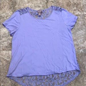 Chico's purple shirt